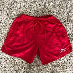VTG Umbro checkered nylon athletic shorts, S
